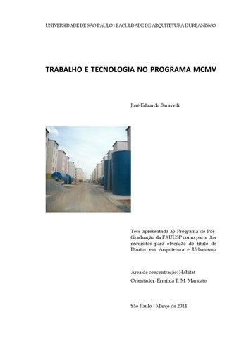 Trabalho e tecnologia no programa MCMV by José Eduardo Baravelli - issuu 04dd2cc9ae4