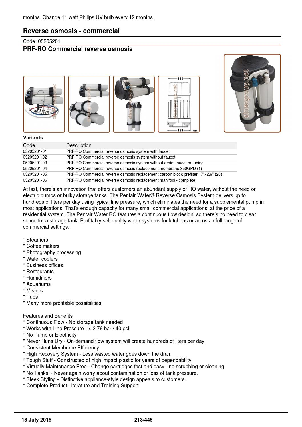 18 July 2015 Sinergroup Products Catalog Water Softeners