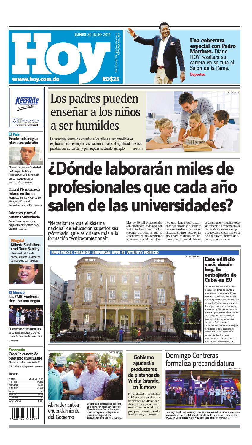 quite nice 13ce8 7f8cc Periódico lunes 20 de julio, 2015 by Periodico Hoy - issuu