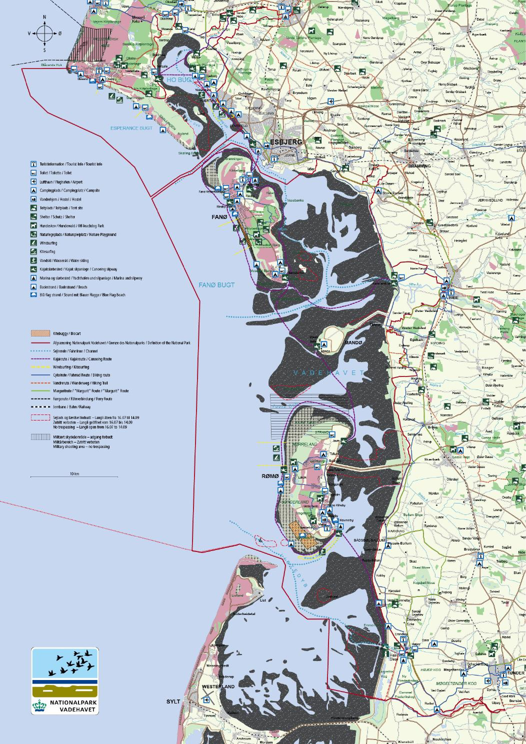 2015 Kort Over Friluftsliv By Nationalpark Vadehavet Issuu
