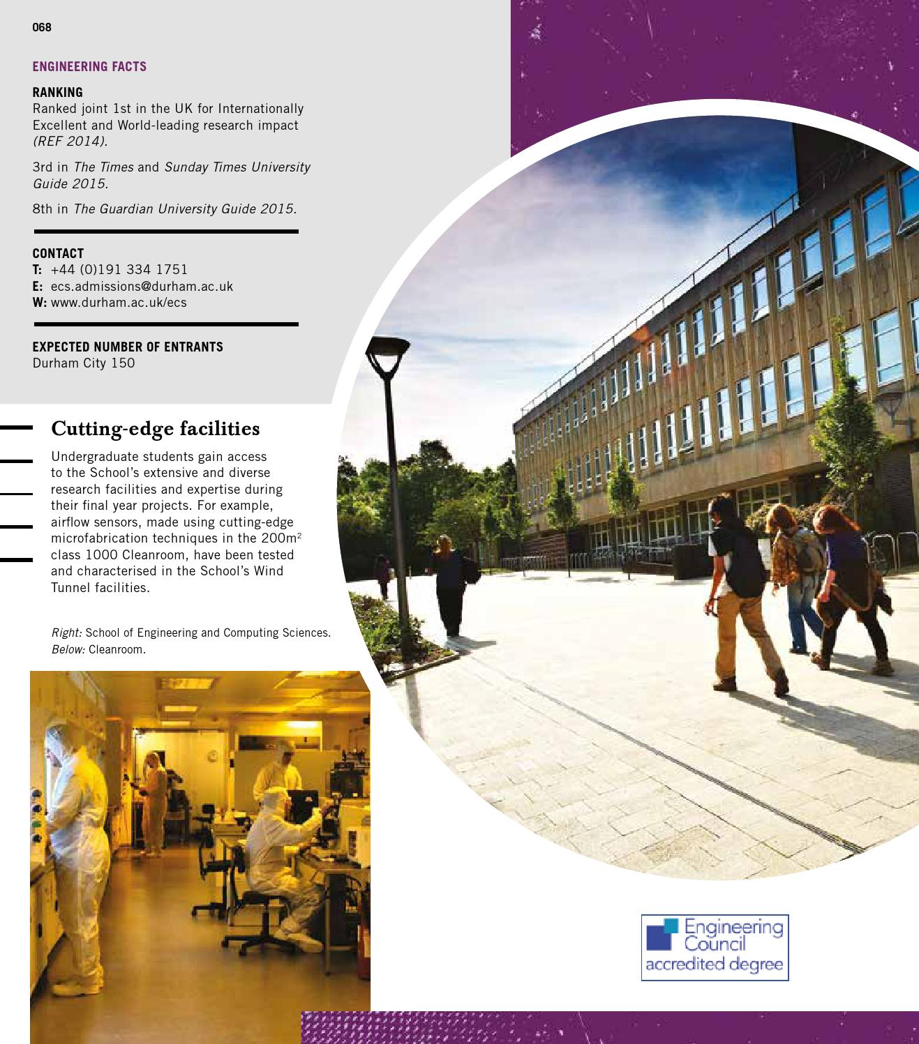 Durham University Undergraduate Prospectus 2016 By Durham University