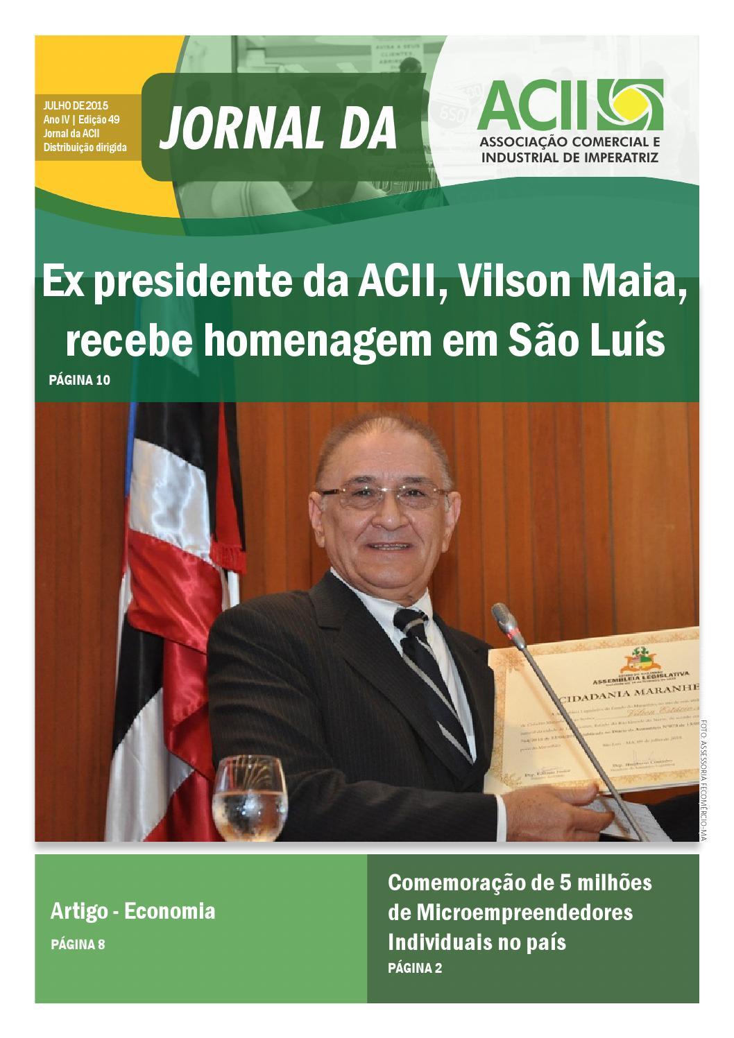 d9320eb160f72 Jornal da acii julho de 2015 by Comunicação - ACII - issuu