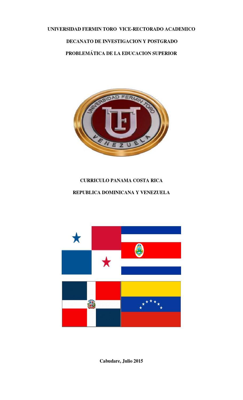 Uft curriculo panama costa rica republica dominicana y venezuela by ...