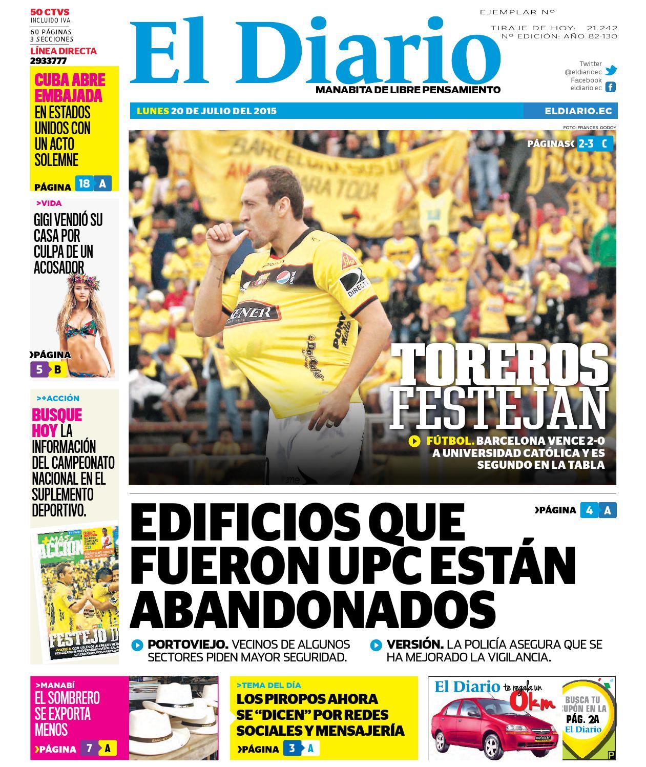 El diario 20 de julio del 2015 by EDIASA - issuu c40a467ede9