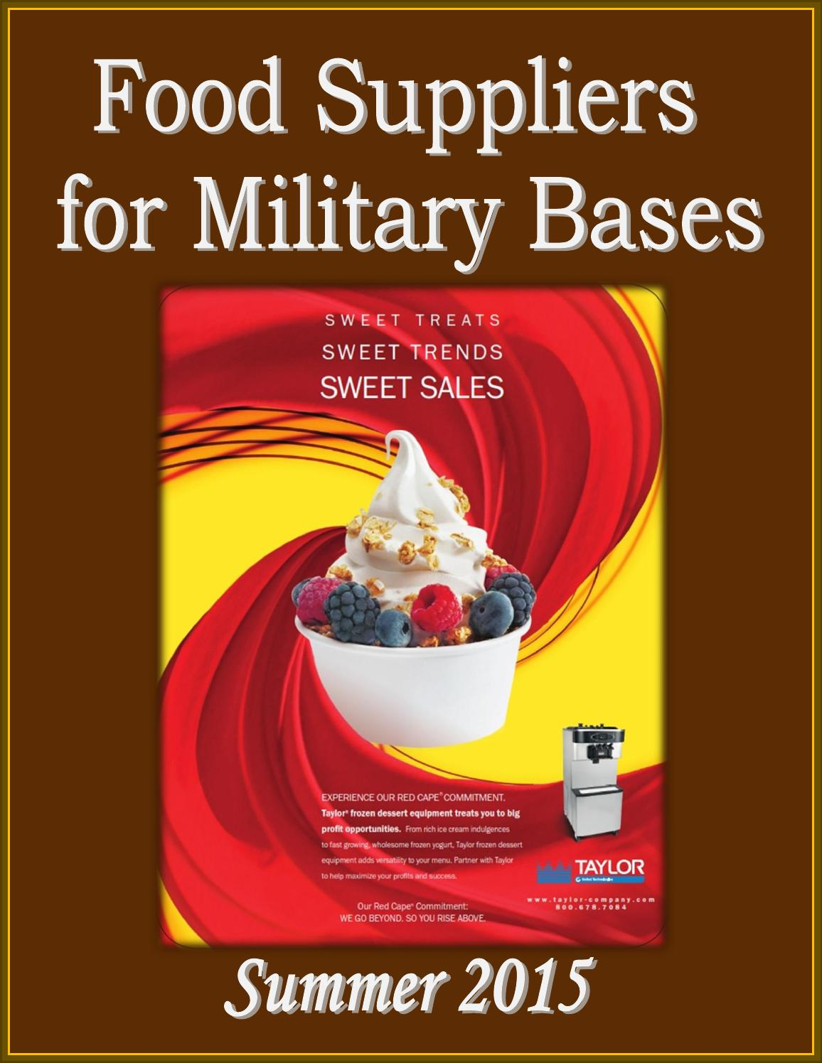Food Suppliers For Military Bases By Federal Buyers Guide Inc Issuu