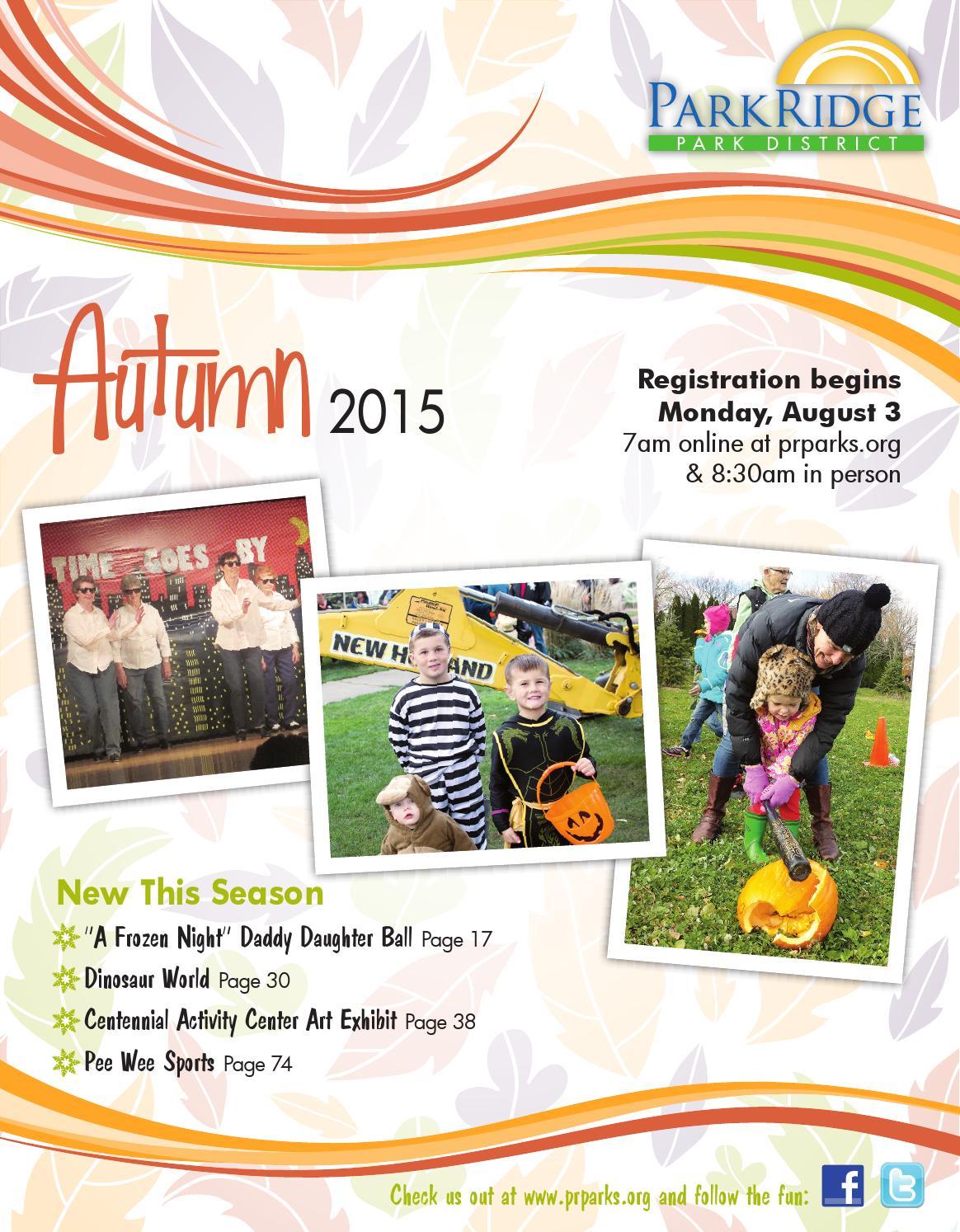 2015 PRPD Autumn Brochure by Park Ridge Park District - issuu