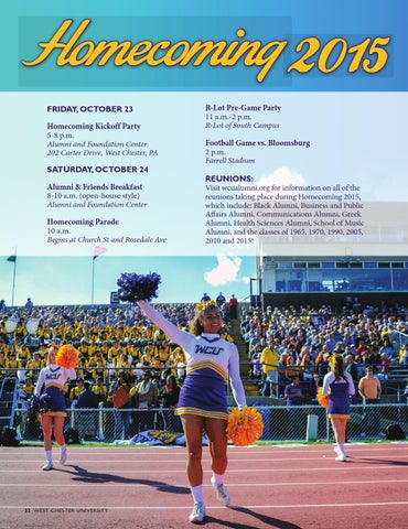West Chester University Magazine Summer 2015 By West Chester