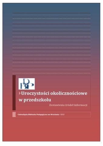 Uroczystości Okolicznościowe W Przedszkolu By Dolnośląska