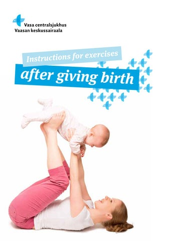 Instructions For Exercises After Giving Birth By Vasa Centralsjukhus
