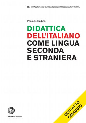 Didattica Dellitaliano Come Lingua Seconda E Straniera By Loescher