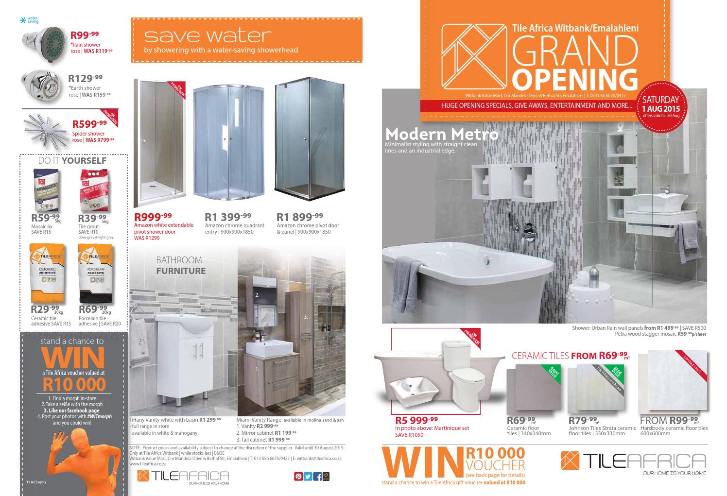 Tile Africa Witbank Grand Opening by Tile Africa - issuu