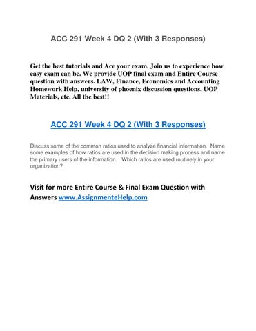 acc291 week 3 weekly reflection essay —- reflection summary assignment gainesboro machine tools corporation - essay  to use company funds to pay shareholder dividends or to buy back stock.