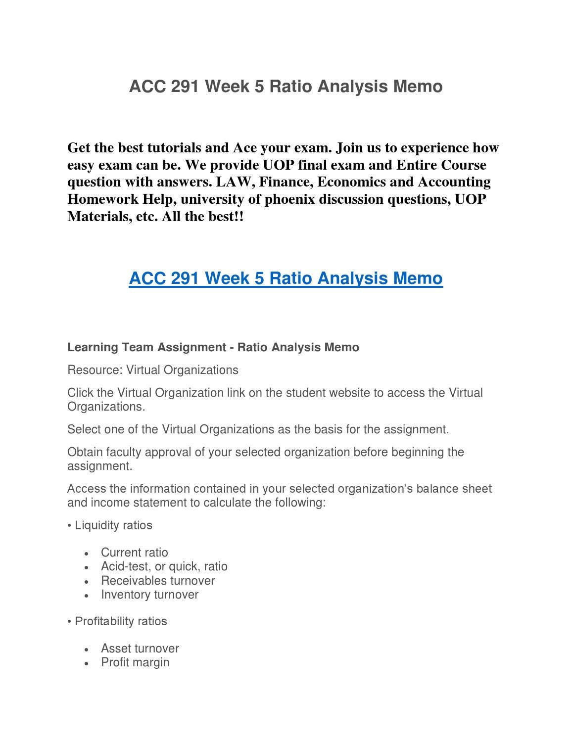 team a ratio analysis memo liquidity Snaptutorial is a online tutorial store we provides acc 363 week 5 learning team ratio analysis memo and presentation  in your memo, address: what the liquidity .
