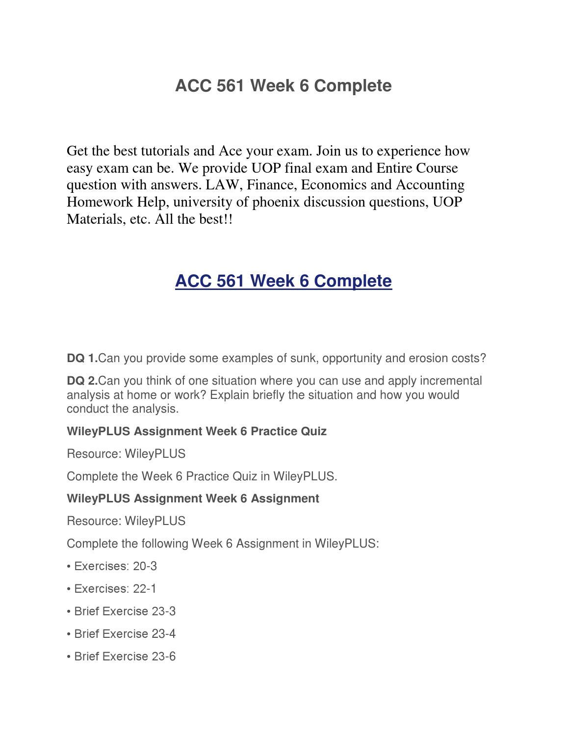 e23 2 wyco company week 6 wiley homework