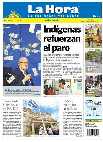 Quito 21 julio 2015 by Diario La Hora Ecuador - issuu 2de32c49520