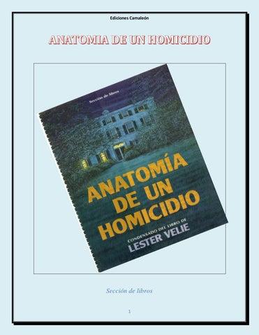 Anatomia de un homicidio by PROFASCOL SAS ASESORIAS Y ...