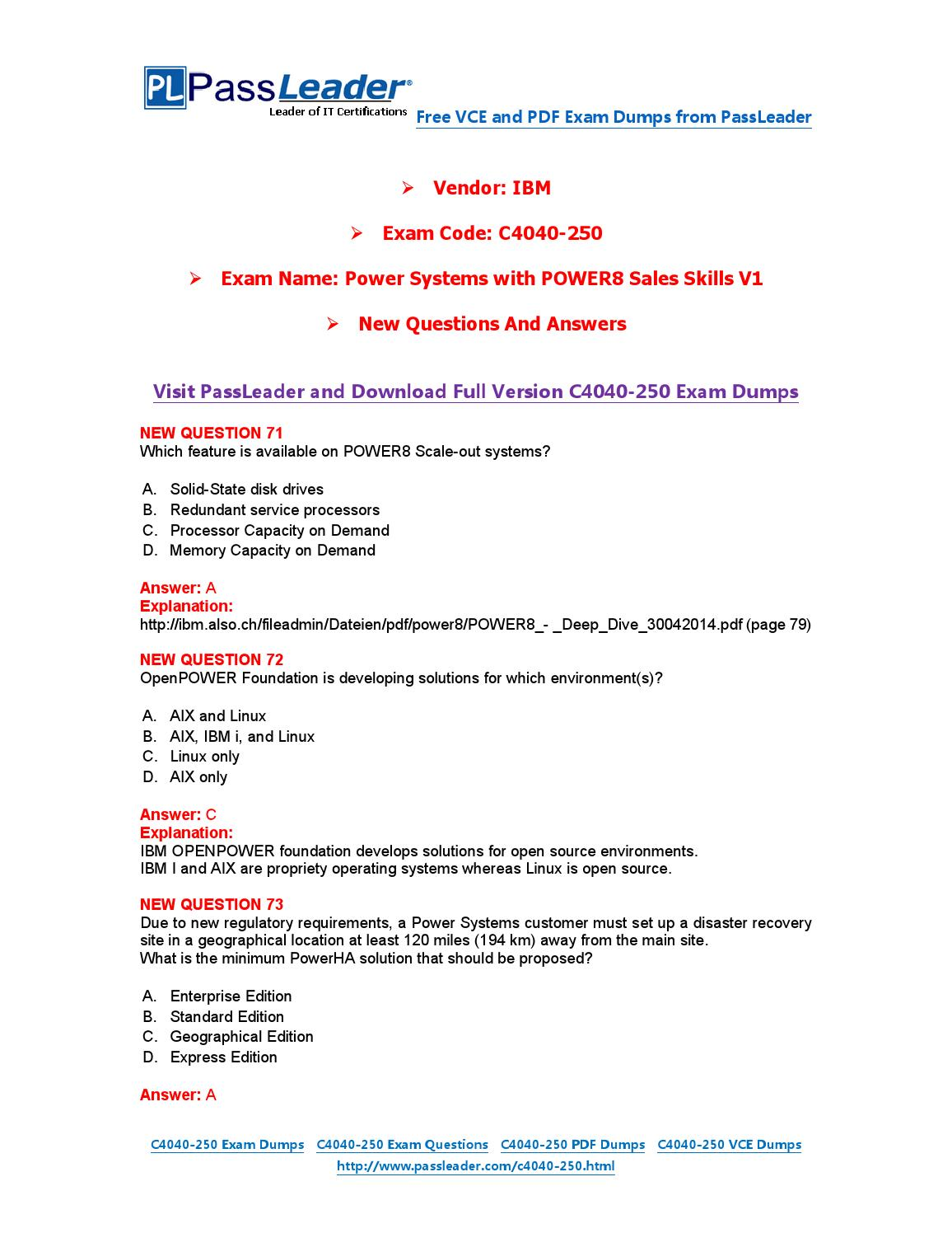 New C4040-250 Exam Dumps with PDF and VCE Download by