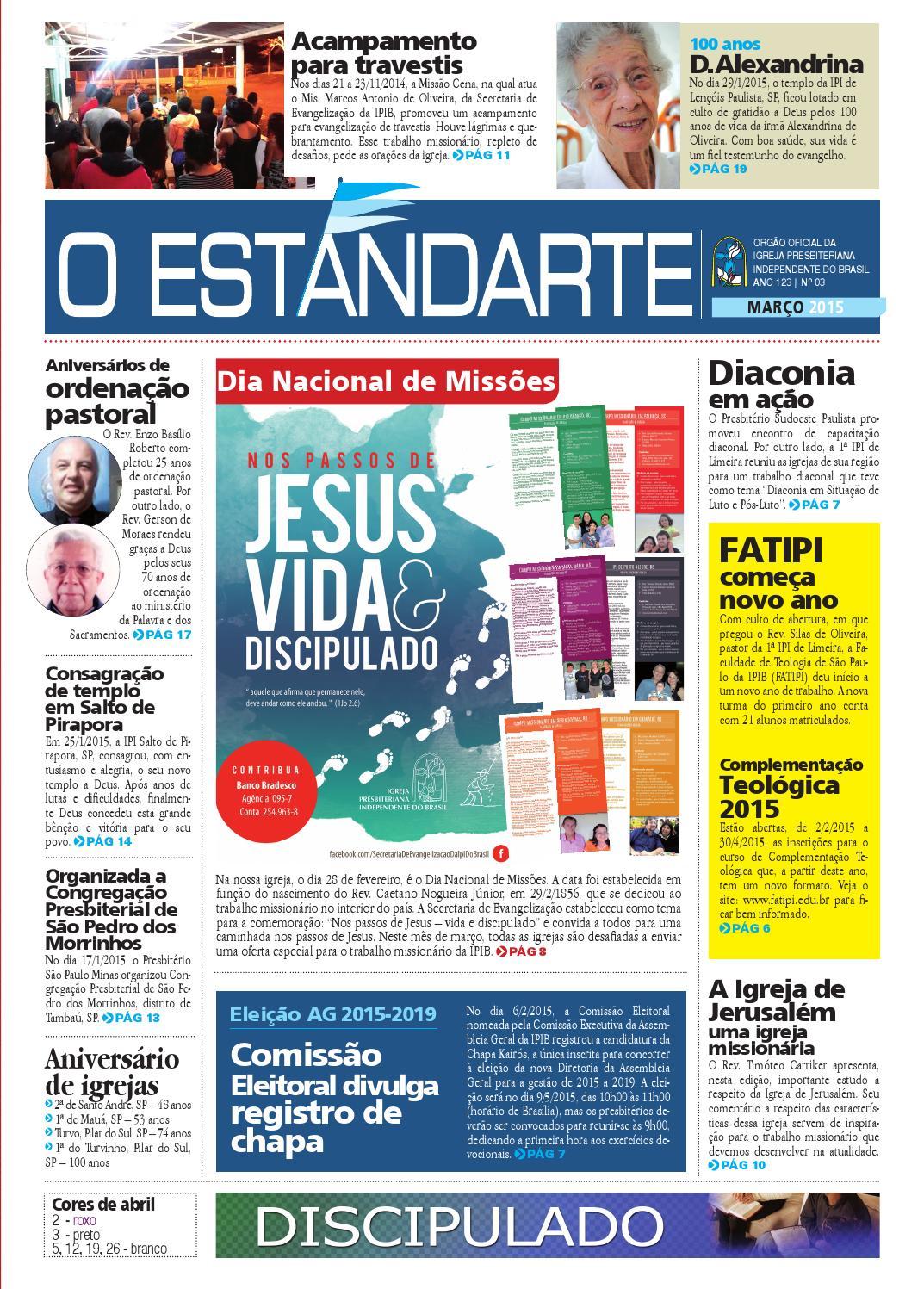 Estandarte - Março 2015 by Editora Pendão Real - issuu 0caad02e341e7
