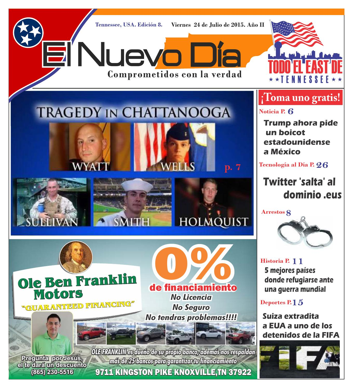 Yeni flores el nuevo dia edicion 8 a o 2 by leonardo lagos for Ole ben franklin motors knoxville