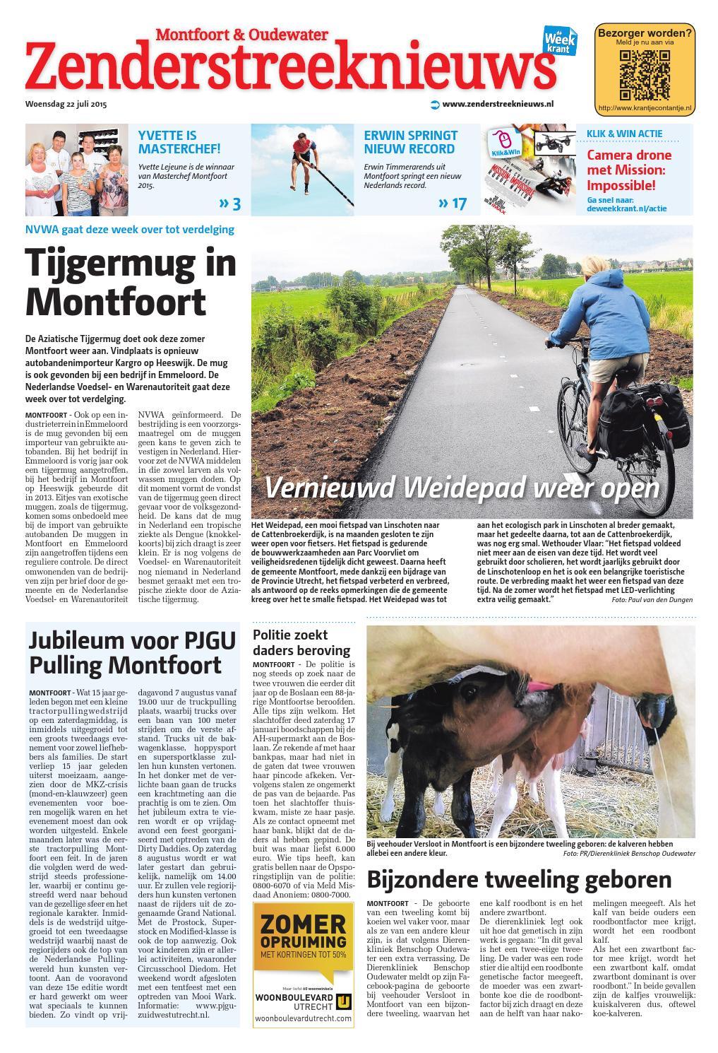 Zenderstreeknieuws Montfoortoudewater Week30 By Wegener Issuu