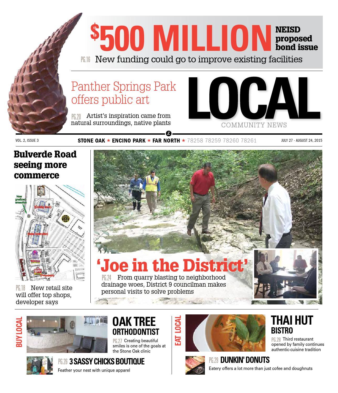 dd86818417e LOCAL: Stone Oak, Encino Park, Far North, 78258, 78259, 78260, 78261 August  2015 by San Antonio Local Community News - issuu
