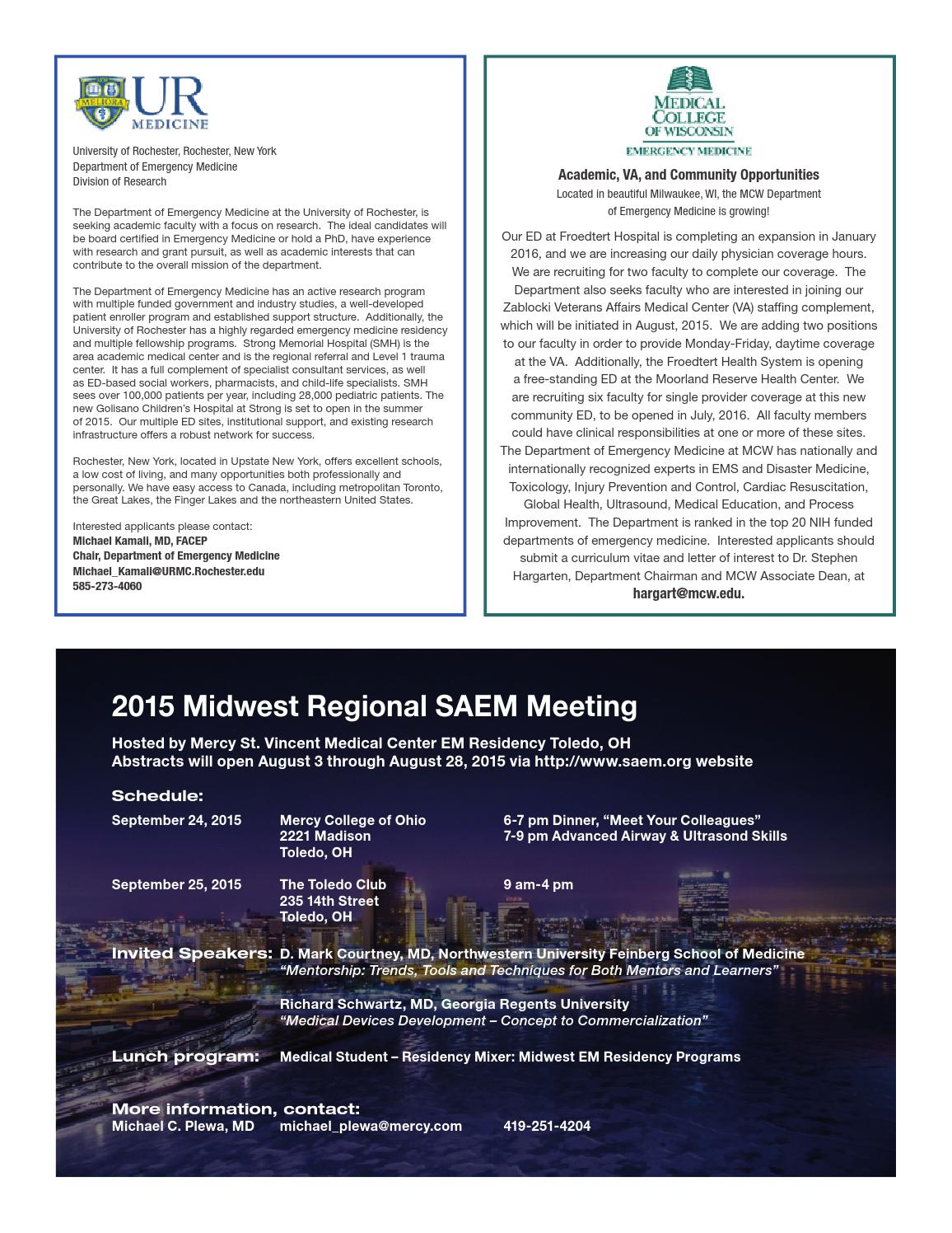 SAEM Newsletter July/August Issue by Society for Academic