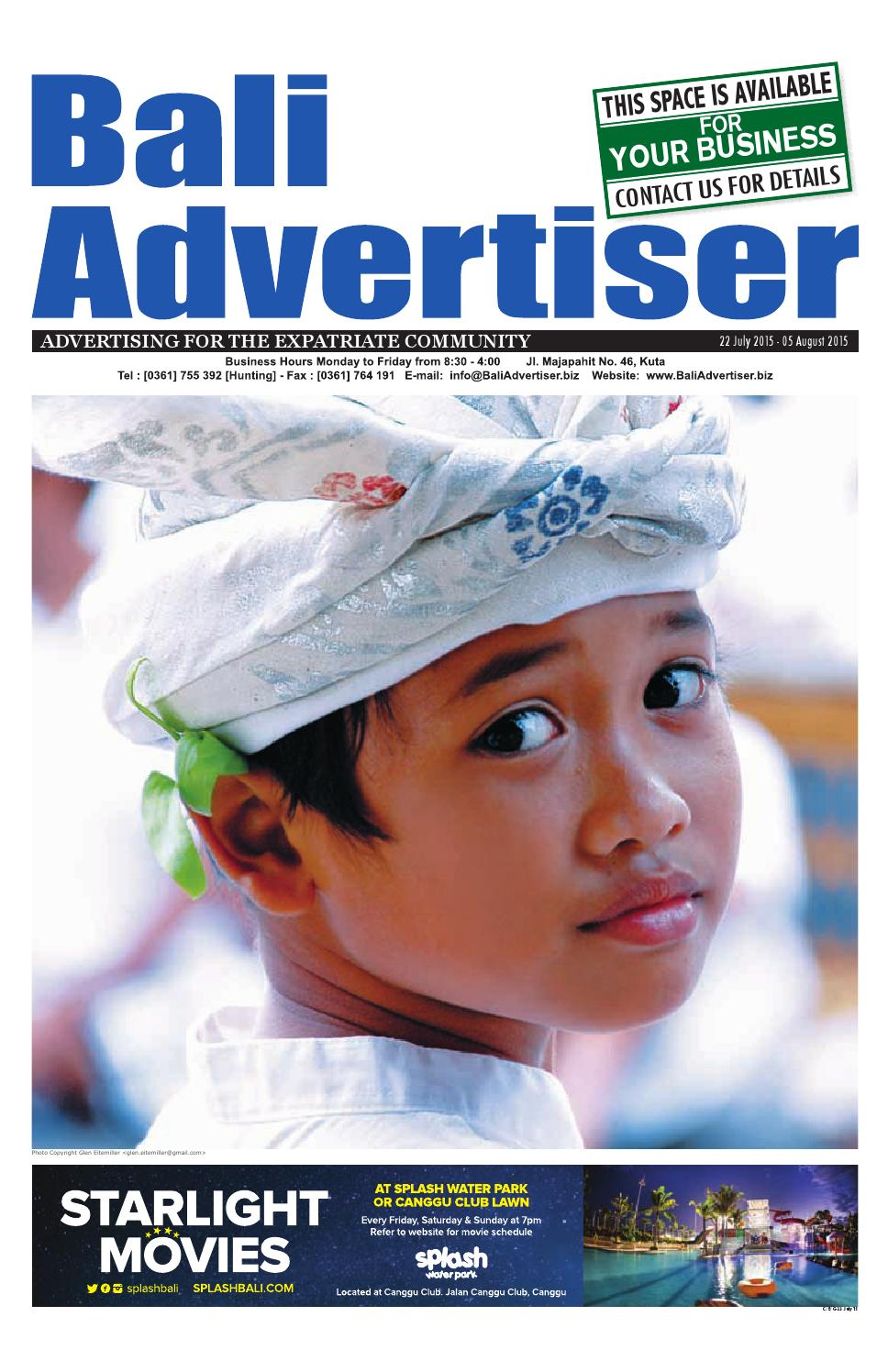 Ba 22 July 2015 By Bali Advertiser Issuu Baruu Map Voucher 25juta Bonus 50k