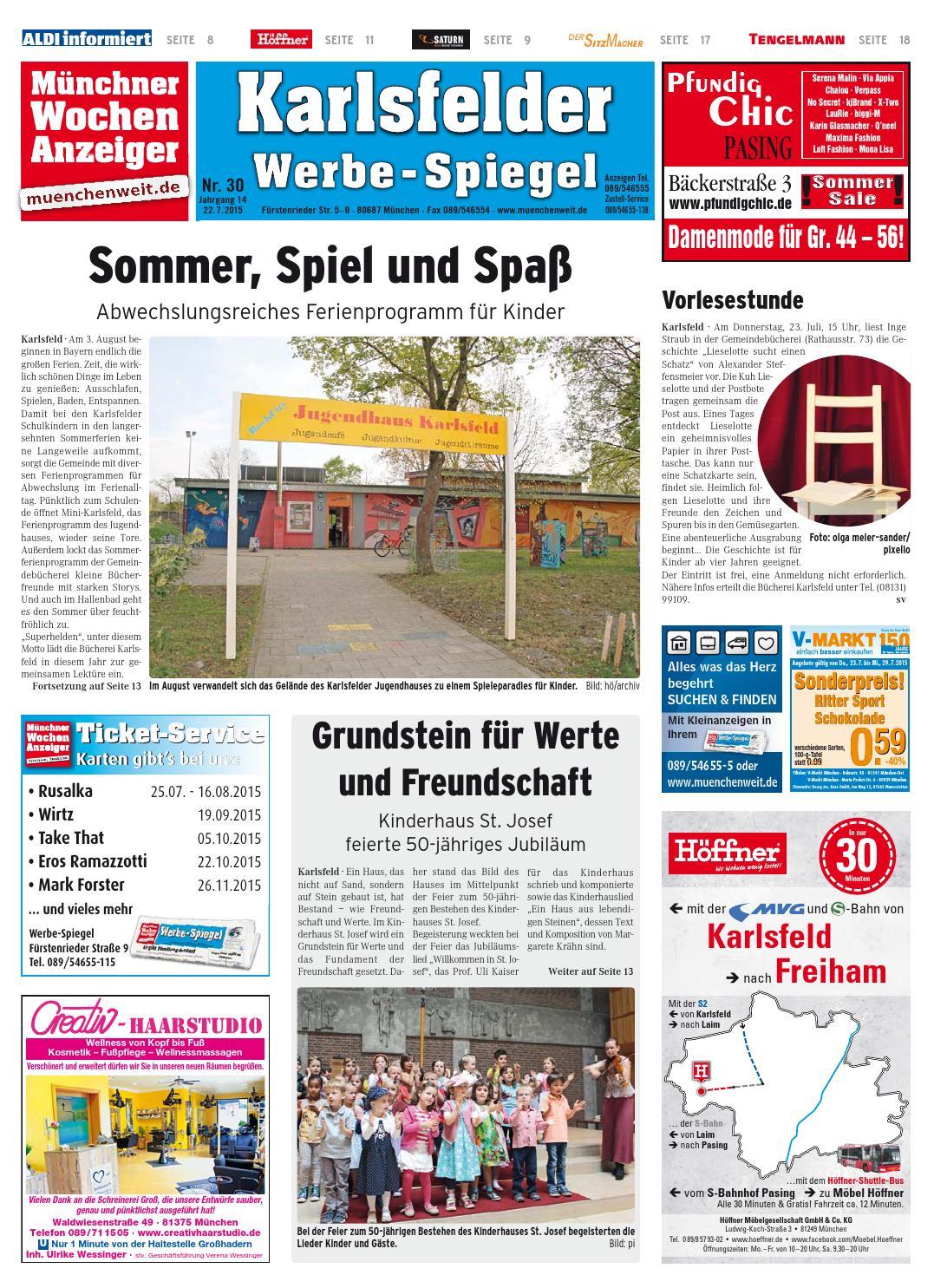 Kw 30 2015 By Wochenanzeiger Medien Gmbh Issuu
