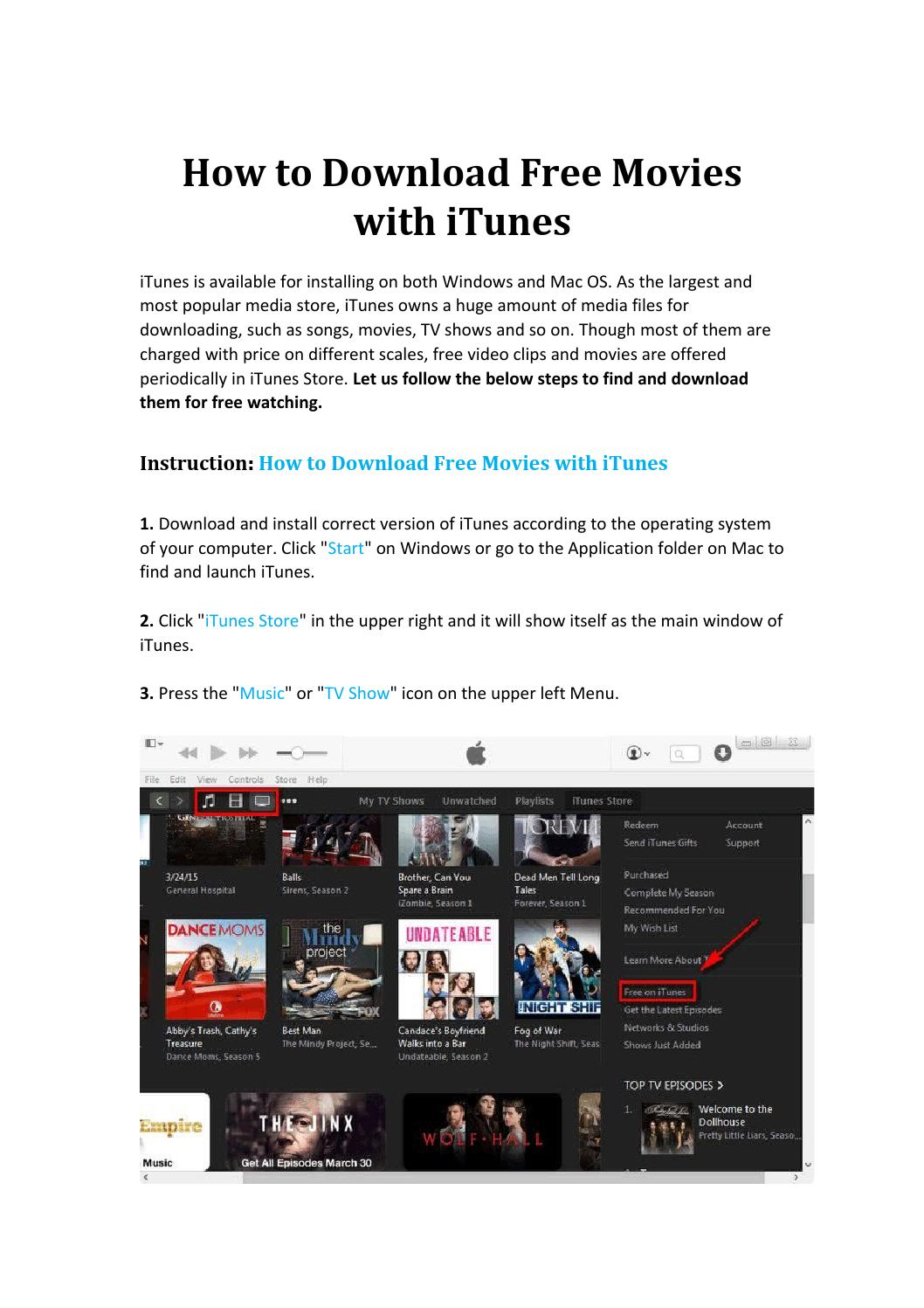 How to download free movies with itunes by Alisa He - issuu