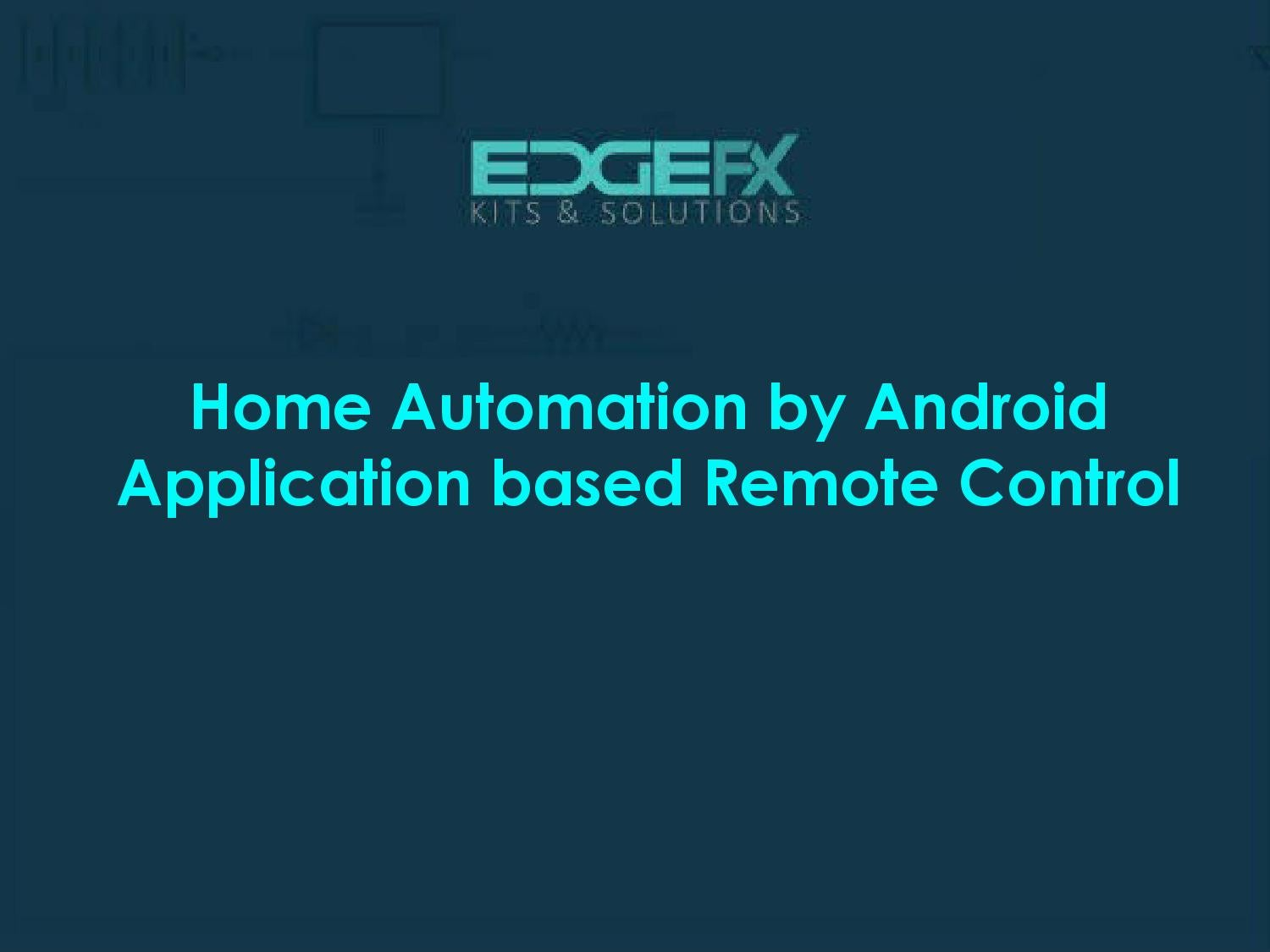 Home Automation By Android Application Based Remote Control Bluetooth System Circuit Block Diagram Anjalibajipai Issuu