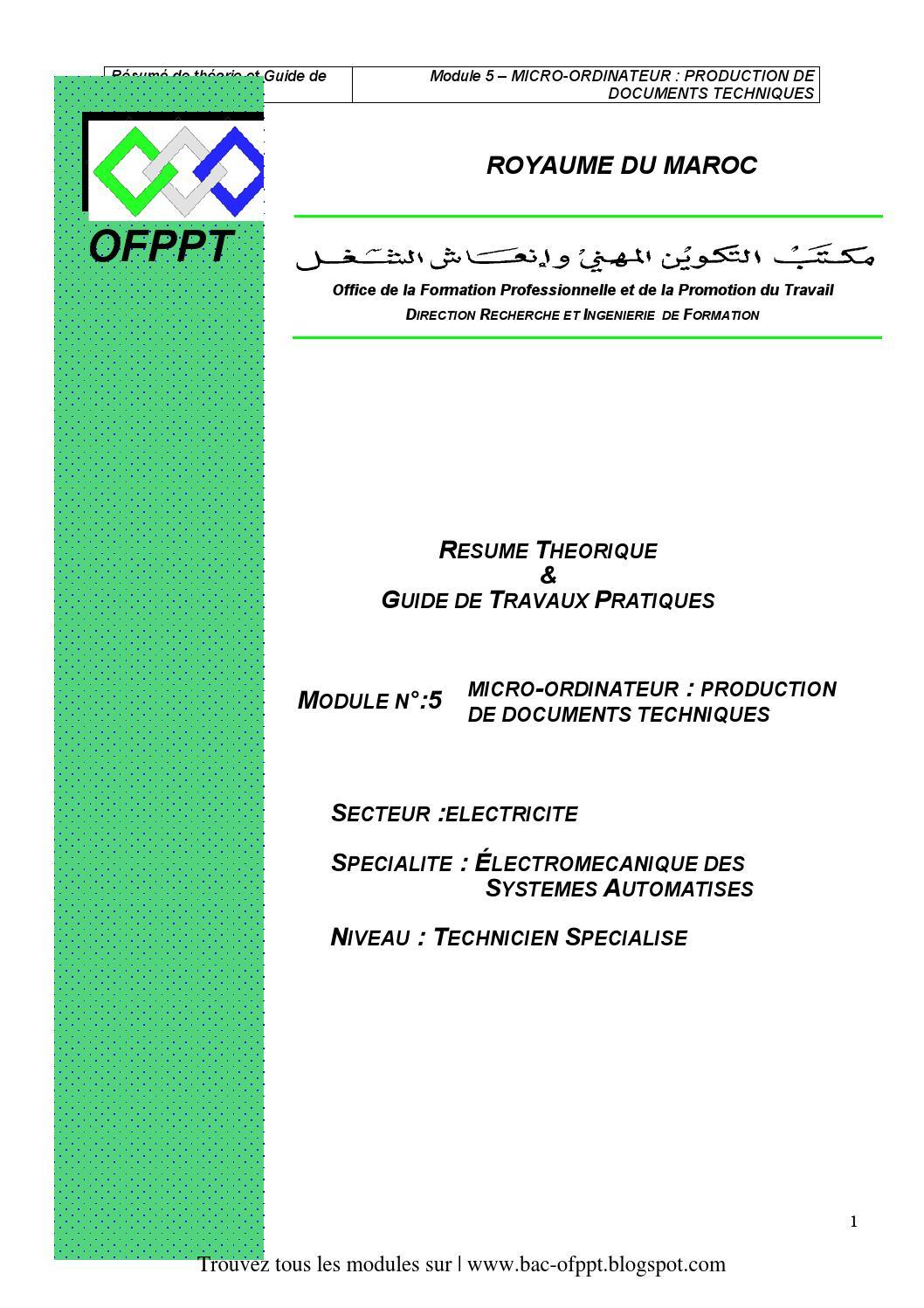 m05 micro ordinateur  production de documents techniques ge esa by ju suf