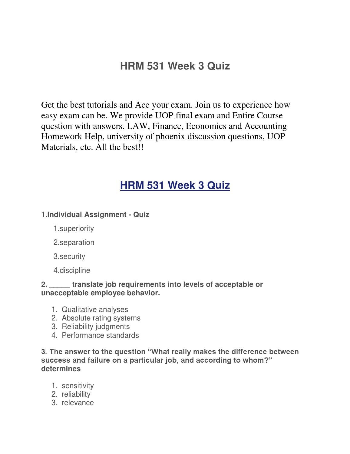 Homework help for uop