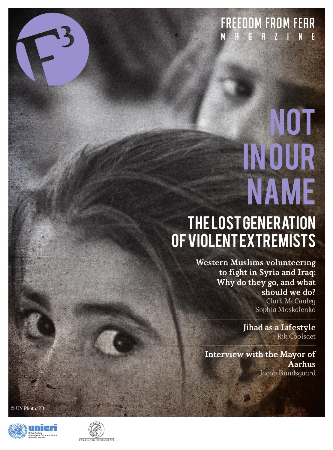 7a9b7dfb3 F3 Magazine - Not in our name. The lost generation of violent extremists by  F3magazine - issuu