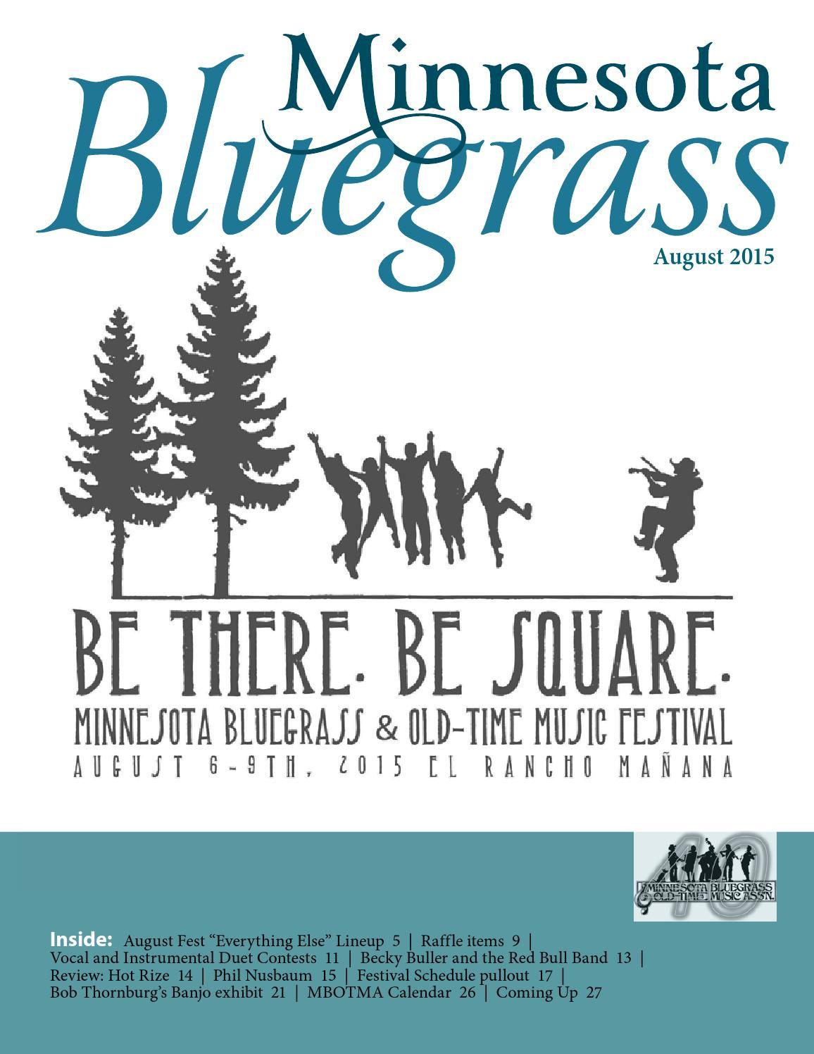Minnesota Bluegrass August 2015 By Minnesota Bluegrass Issuu