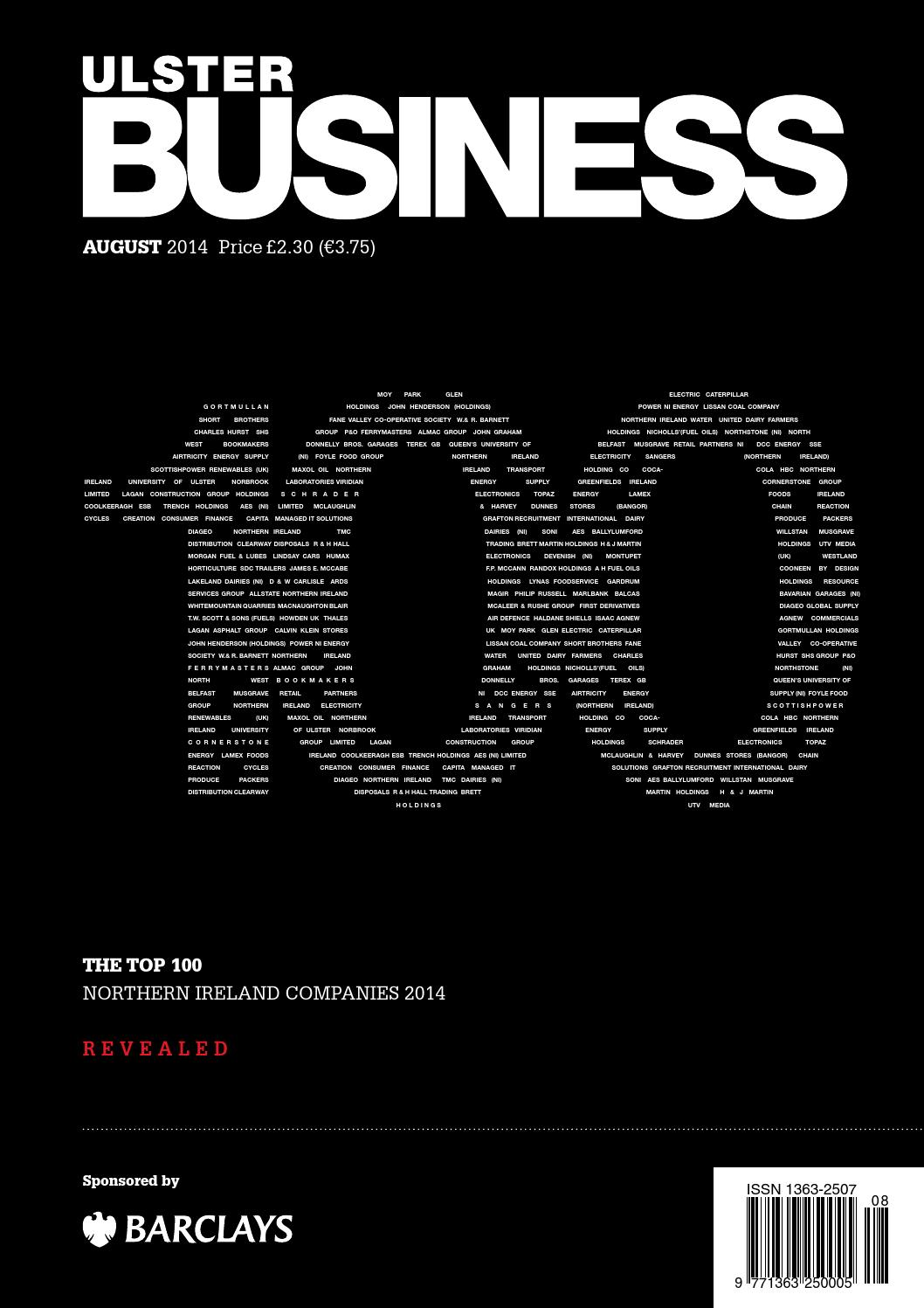 Ulster business august 2014 the top 100 by ulster business issuu fandeluxe Image collections