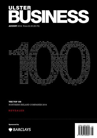 Ulster business august 2014 the top 100 by ulster business issuu page 1 fandeluxe Images
