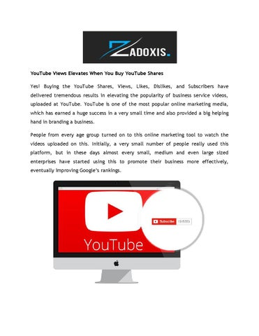 YouTube Views Elevates When You Buy YouTube Shares by