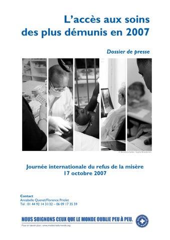 L Acces Aux Soins Des Plus Demunis En 2007 By Medecins Du Monde Issuu