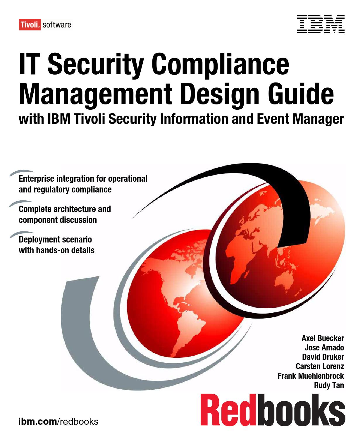Ibm it security compliance management design guide by