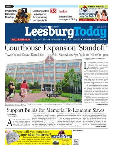 Leesburg Today, July 23, 2015 by InsideNoVa - issuu