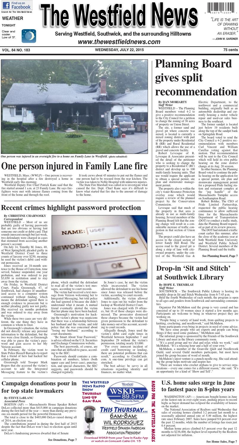 Wednesday, July 22, 2015 by The Westfield News - issuu