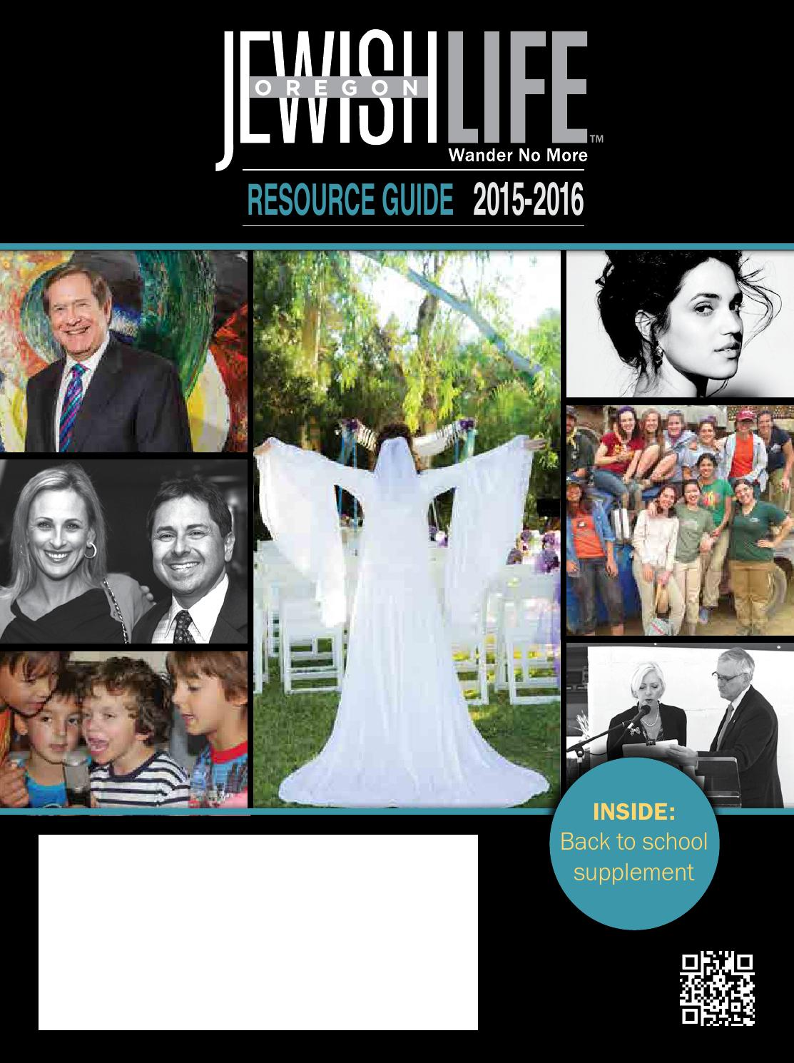Oregon Jewish Life Resource Guide 2015 2016 By