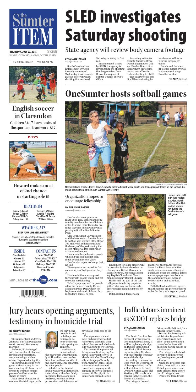 July 23, 2015 by The Sumter Item - issuu