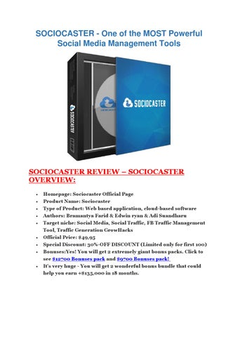 SECRETS revealed of SocioCaster – Detail review and bonus by