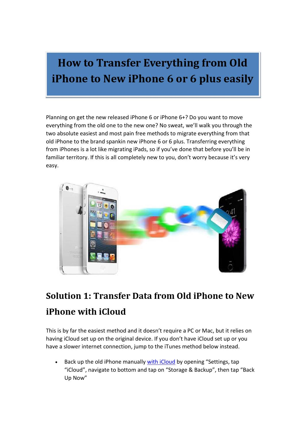 transfer everything to new iphone how to transfer everything from iphone to new iphone 6 5039
