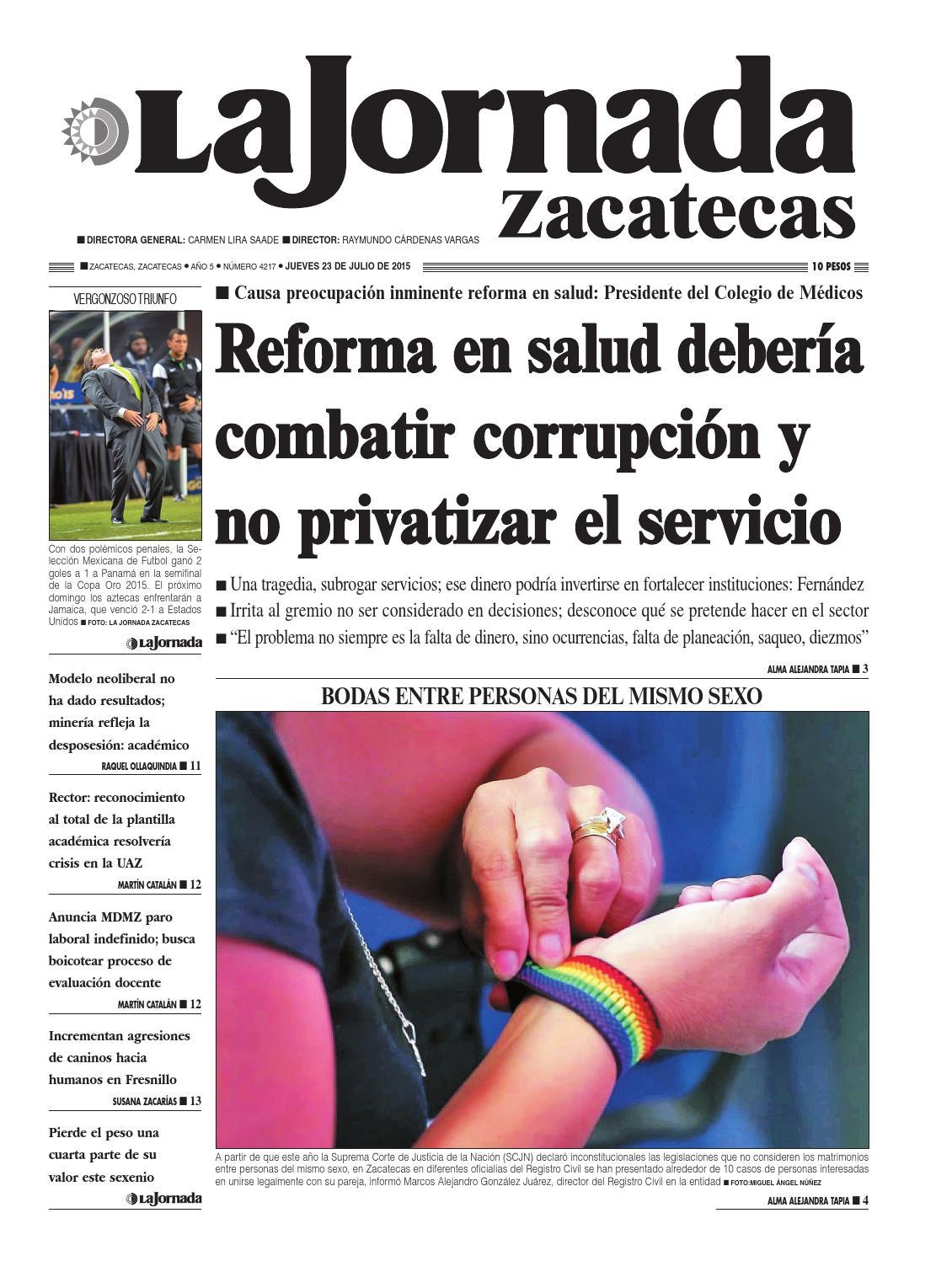 La Jornada Zacatecas, jueves 23 de julio del 2015 by La Jornada ...