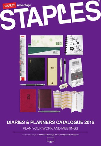 Diaries & Planners Catalogue 2016 by Staples - issuu