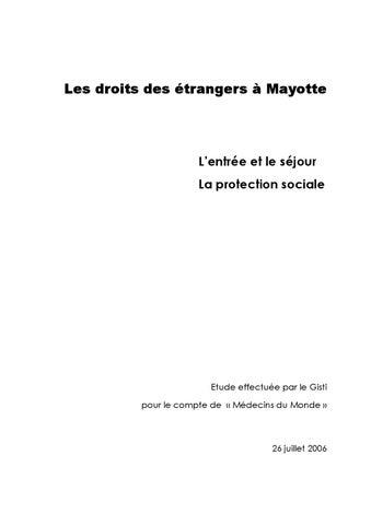 Les Droits Des Etrangers A Mayotte L Entree Et Le Sejour La