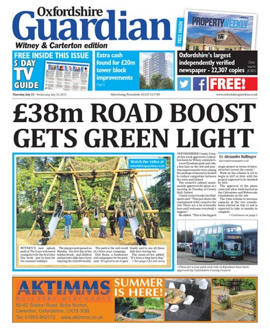 23 July 2015 Oxfordshire Guardian Witney By Taylor
