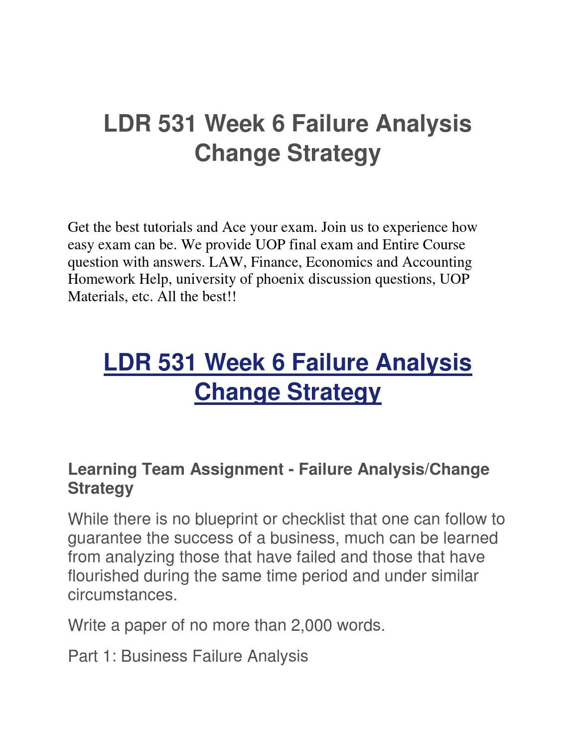 ldr 531 week 1 discussion questions Ldr 531 week 6 discussion question 2 this tutorial was purchased 1 times & rated no rating by student like you how could socialization be compared to.